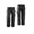 Snickers 3312 Black Duratwill Trousers 32 Inch Leg