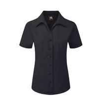 Orn 5350 Black Edinburgh Short Sleeve Ladies Blouse