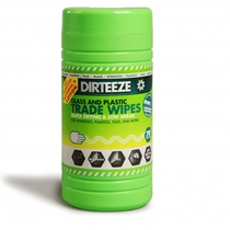 Dirteeze Glass & Plastic Wipes Tub 80