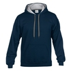 Gildan 185C00 Contrast Hooded Sweatshirt - Royal