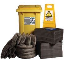 Ecospill 360L Maintenance Spill Kit 2 Wheel PE Bin M1220360