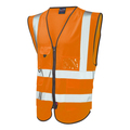 Hi-Vis Orange  Zip Front Executive Waistcoat