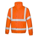 Future Hi-Vis Orange Bomber Jackets JK930