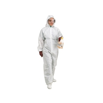 KeepSAFE  Type 5/6 White Hooded Disposable Coveralls