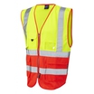 Hi-vis 2-Tone Yellow/Red Executive Zip Front Waistcoat