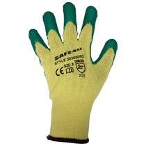 Green Latex Coated Economy Gloves [12]
