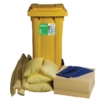 Ecospill 120L Chemical Spill Kit 2 Wheel PE Bin C1220120