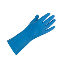 KeepSAFE  Satin Blue Nitrile Unlined Gauntlets