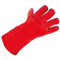 KeepSAFE Red Leather Welders Gauntlets S10