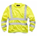 Hi-Vis Yellow Round Neck Sweatshirt