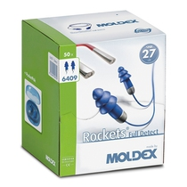 Moldex 6409 Rocket Detectable Earplug SNR27 [50]