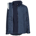 Trespass Patterson 3-in-1 Navy Blue Waterproof Jacket
