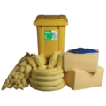 Ecospill 360L Chemical Spill Kit 2 Wheel PE Bin C1220360