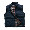 Navy Blue Tartan Lined Bodywarmer