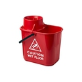 15L Professional Mop Bucket & Wringer Red
