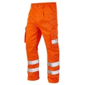 Leo Hi-Vis Orange Cargo Trousers Tall Leg
