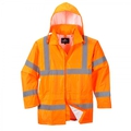 Portwest H440 Hi-Vis Orange Mesh Lined Rain Jacket