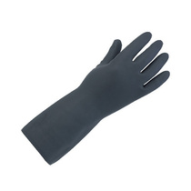 Keepsafe Heavyweight Lined Black Rubber Gloves