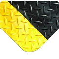 Wearwell 495 Diamond Plate Floor Matting Black/Yellow