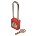Lockout Padlock Long Shackle Red